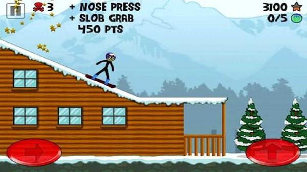 火柴人滑雪板截图