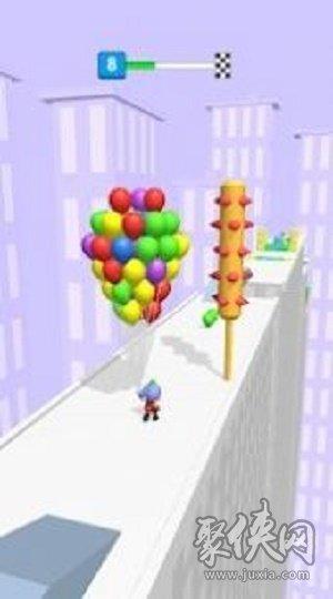 收集气球的男孩