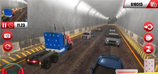 美国卡车货运停车模拟器截图