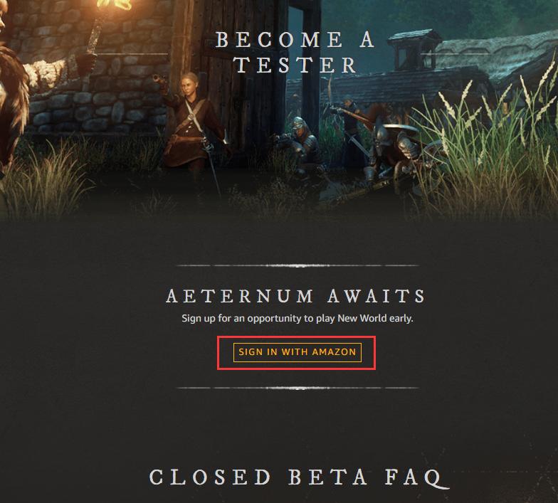 新世界游戏开启测试 NewWorld游戏测试申请教程一览