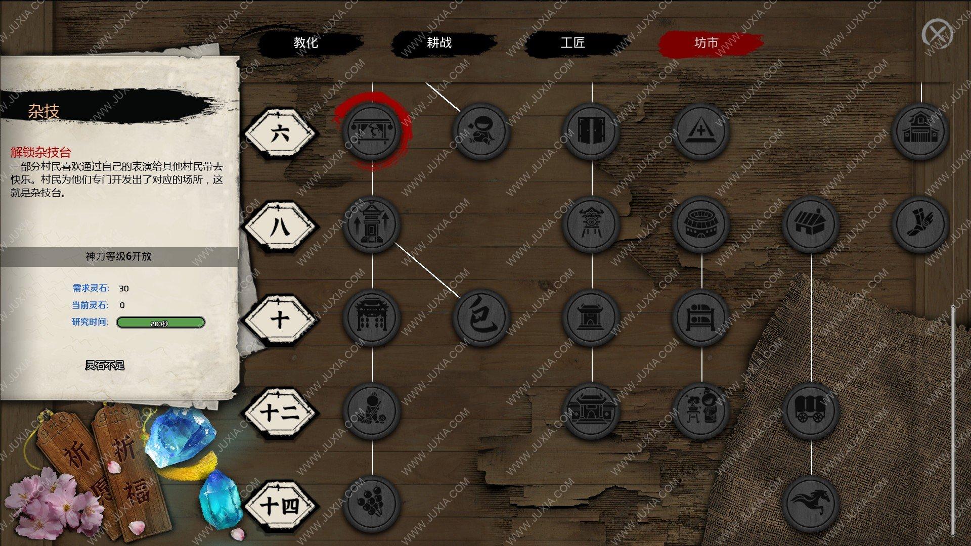 天神镇游戏攻略娱乐篇 杂技有什么作用