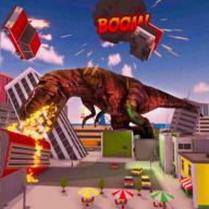 恐龍摧毀城市模擬